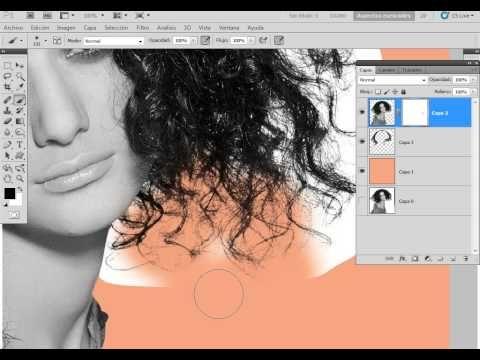calado de cabello perfecto - photoshop - YouTube