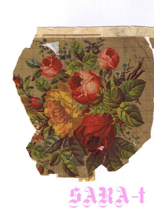 Gallery.ru / Fotoğraf # 33 - 19. yüzyıl Programlarının eski nakışlar (Fleure) - SARA-t