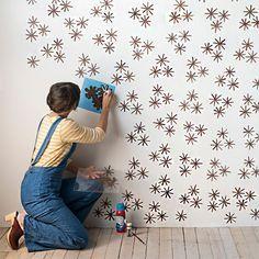 Stencil, uma ótima alternativa aos papéis de parede - limaonagua                                                                                                                                                                                 Mais