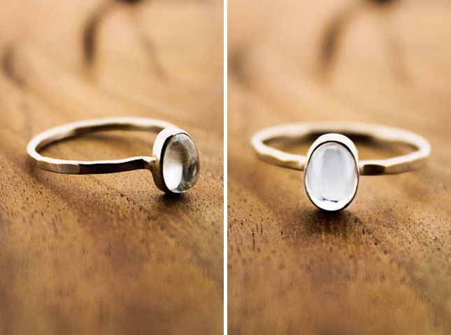 Silver Aquamarine Ring ($300): First up, this delicate oval is subtle, beautiful, but packs enough punch to catch your eye. We love the handmade quality the band has to it.