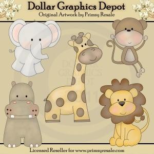 Jungle Babies--I like the giraffe