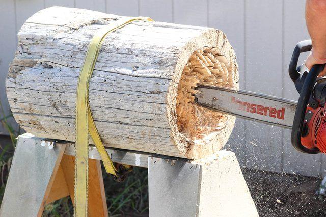 How to Make a Log Planter | eHow