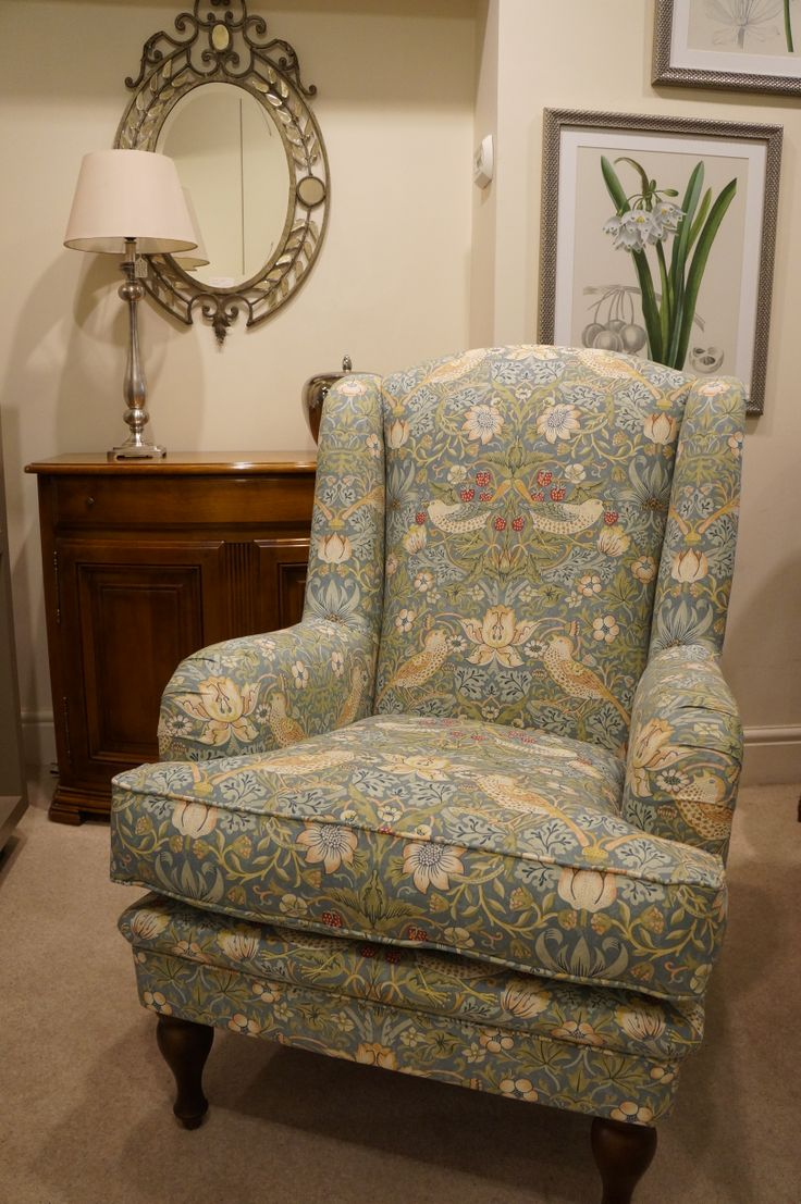 Our Cornbury chair looking lovely in William Morris ...