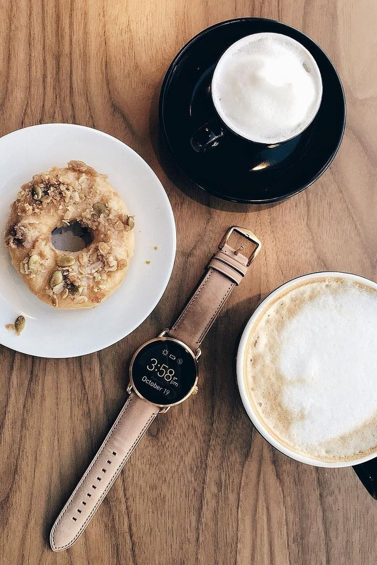 Sunday sweet treats featuring the Q Wander rose gold display smartwatch. via @ dineandfash