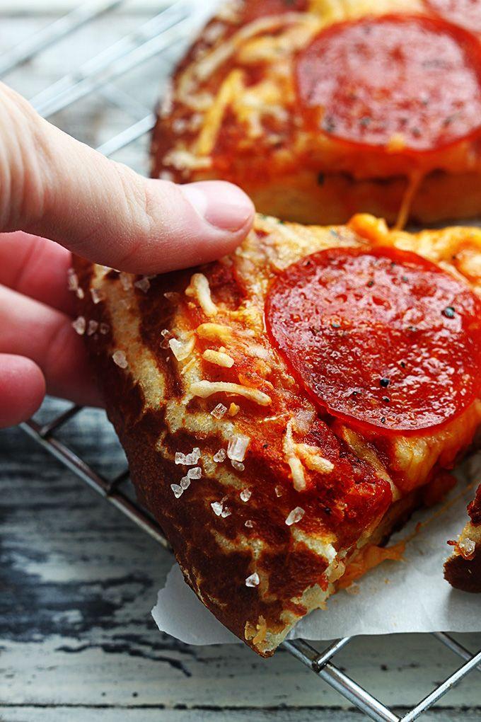 Pretzel Crust Pizza   Recipe   Pretzel Crust Pizza, Crust Pizza and ...