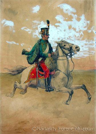Ismeretlen festő: Frimont huszár
