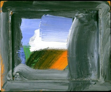 Howard Hodgkin, view from swiss train on ArtStack #howard-hodgkin #art