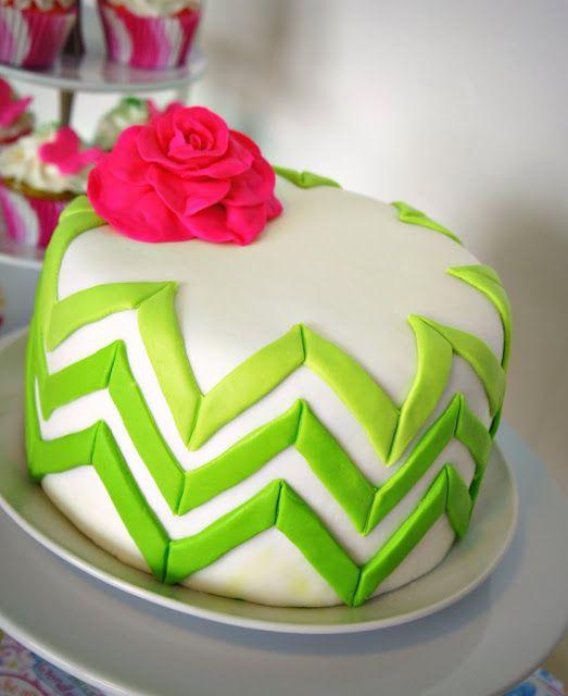 Ombre Chevron Cake Tutorial
