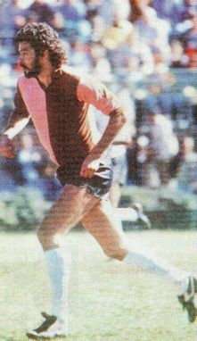 The Great Brazilian Socrates playing for English club Corinthian Casuals