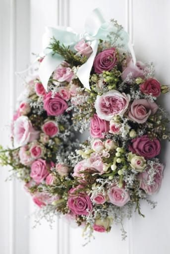 "queenbee1924: "" (via rose wreath | Artistic Arrangements ❁) "" Spring wreath"