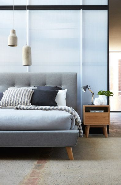 The Nellie  Giddy up onto this sleek retro bed from Bedshed