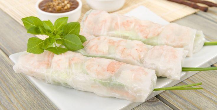 Rispapirruller with shrimp