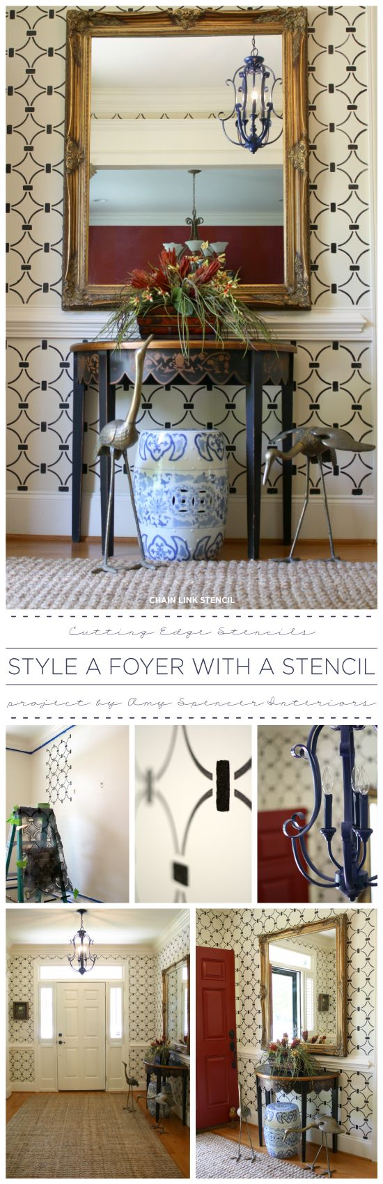Foyer Paint Kit : Best images about stencils and diy painting ideas on