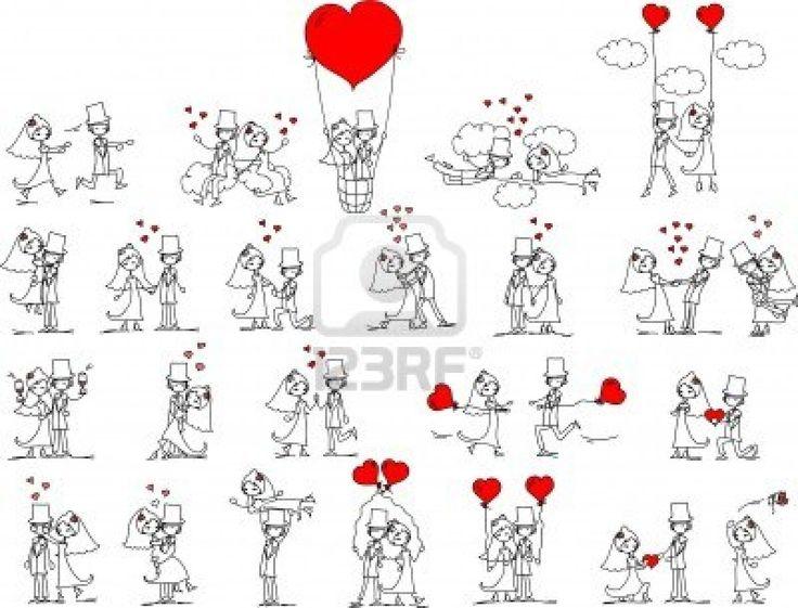 17 migliori idee su illustrazione matrimonio su pinterest for Disegni sposi stilizzati