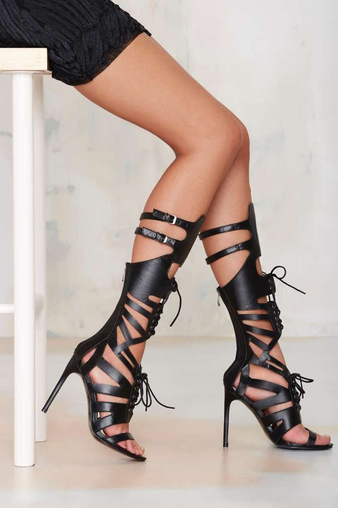 Nasty+Gal+Bound+for+Glory+Lace+Up+Heel+|+Shop+Shoes+at+Nasty+Gal!