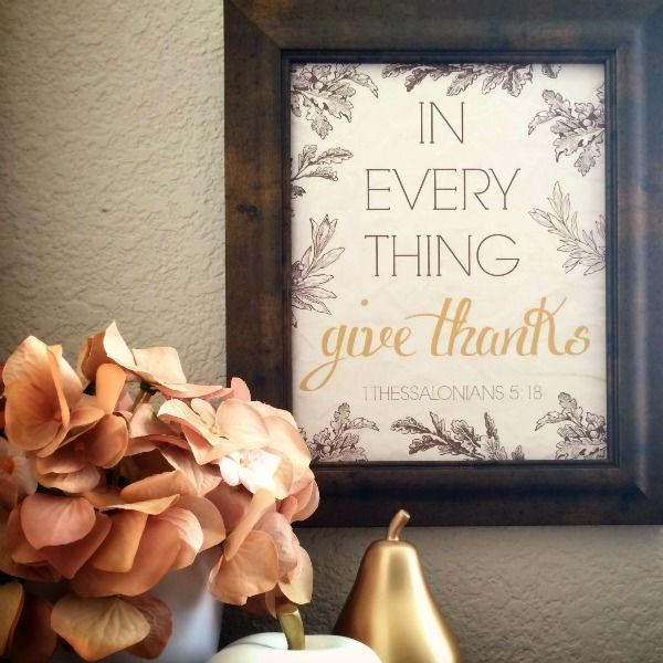 GIVE THANKS – FREE PRINTABLE