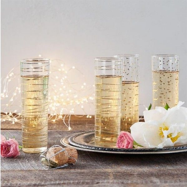 Luxe Moderne Champagne Flutes