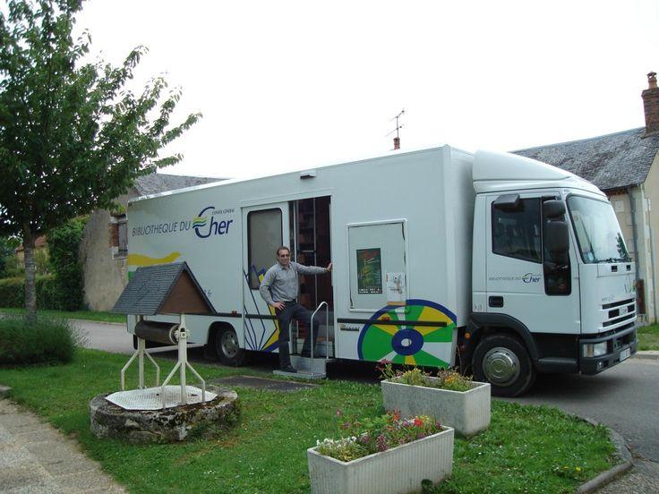 Bibliobus, Cher department, France.: Cher Department, Mobiles Libraries, Junk Bookshop