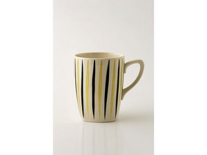 1950s Midwinter pottery 'Cherokee Variant' pattern mug, designed by Jessie Tait