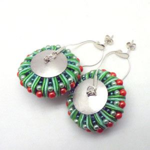 3D Soutache earrings (green&orange) / Kolczyki soutache 3D (zielono-pomarańczowe) by Alina Tyro-Niezgoda / Tender December More: http://tenderdecember.eu/otulacze/echinoderms-earrings-szkarlupniowe-kolczyki/ To buy: http://tenderdecember.eu/shop/produkt/3d-soutache-earrings-greenorange-kolczyki-soutache-3d-zielono-pomaranczowe-2/