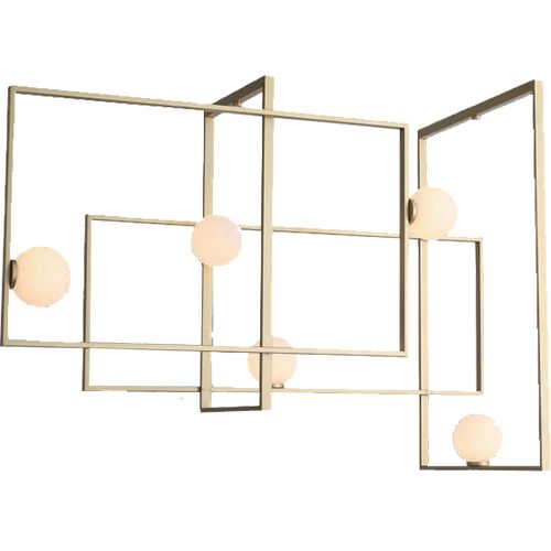 Replica Mondrian Glass Chandelier >> Form, function, and style, this modern light has it all.