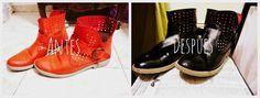 Cómo teñir botas de cuero sintético