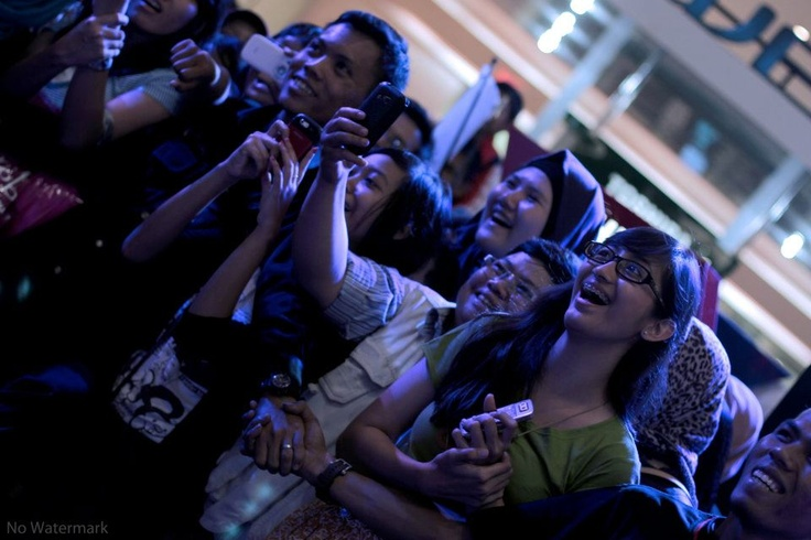 Crowded at the concert - Bandung - Indonesia