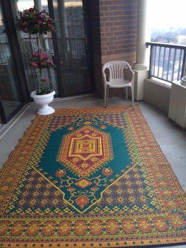 Smile Mad Mats Oriental Turkish Indoor Outdoor Floor Mat 4 By 6