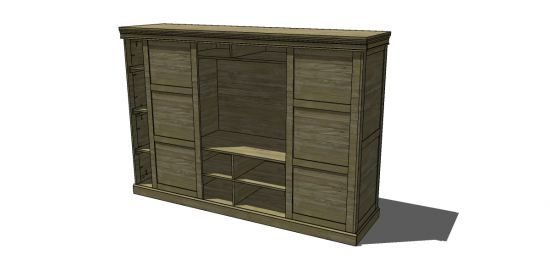 Free DIY Furniture Plans to Build a PB Inspired Dayton Locker Media Armoire - www.thedesignconfidential.com