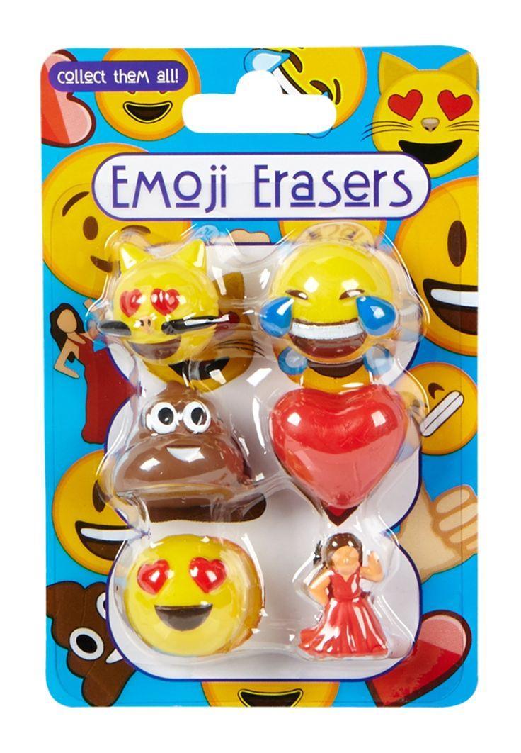 Emoticon 3D Erasers