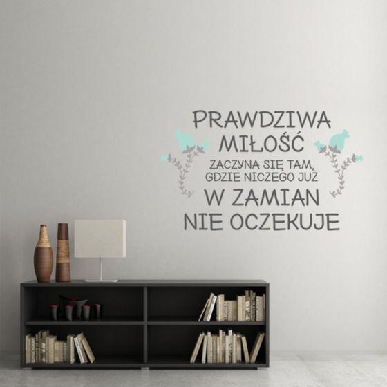 Prawdziwa+miłość+-+naklejka+na+ścianę+w+artiglo+na+DaWanda.com