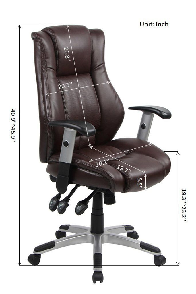 Vo Furniture Highback Executive Chair Bonded Leather Adjustable