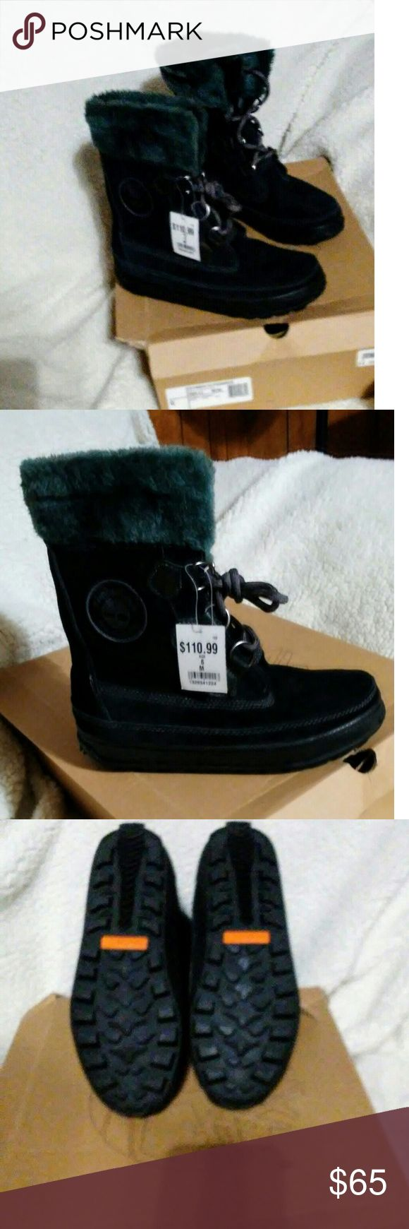 NWT Timberland MUKLUK Lace Black Boots NWT & box - Never Worn  size 6 - runs big - fits like 6 1/2 or 7. Timberland Shoes Winter & Rain Boots