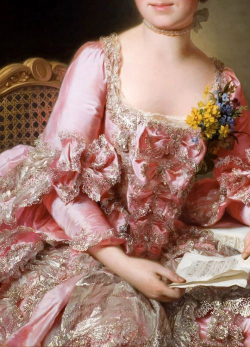 INCREDIBLE DRESSES IN ART (74/∞)The Artist Marie Suzanne Giroust by Alexander Roslin, 1770