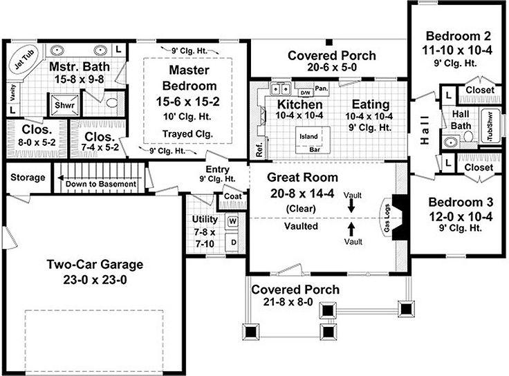 44 best 1600 Square Foot Plans images on Pinterest | House floor ...