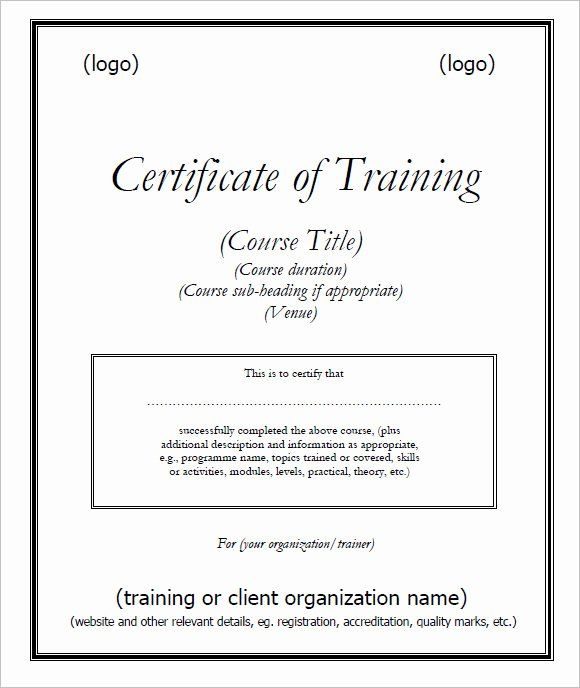 Yoga Teacher Training Certificate Template Beautiful 30 Training Certificate Templates In 2020 Training Certificate Certificate Templates Certificate Design Template