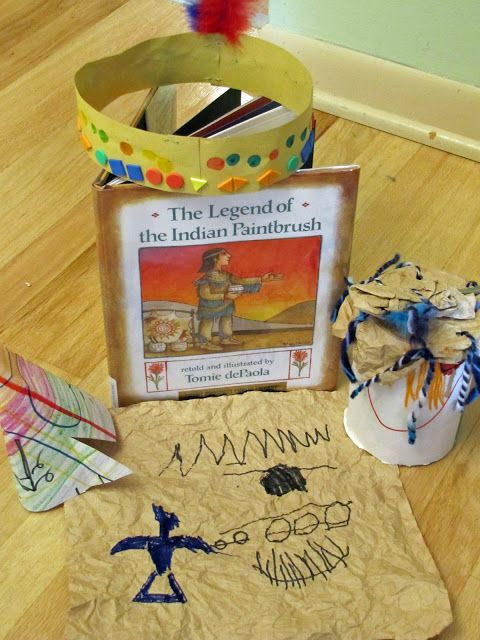"""Week of activities to go along with the book, """"The Legend of the Indian Paintbrush"""""""