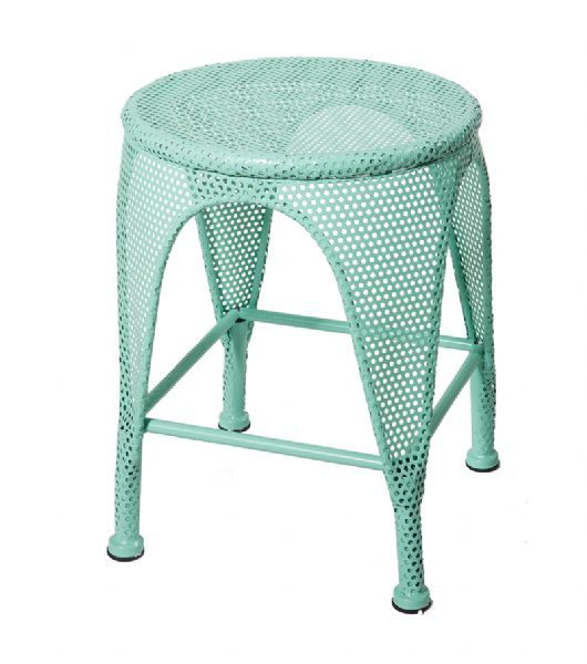 General Eclectic Retro Metal Stool- Mint. Bring back the 50s with this retro and funky metal stool from General Eclectic. Stylish, chic and absolutely awesome this gorgeous metal stool will add funky flair to your home décor. #retro #homedecor #metalfurniture