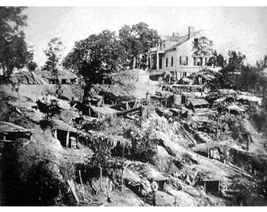 Caves of Confederate Families, Vicksburg, Mississippi    WOW!! people had to live in the ground!