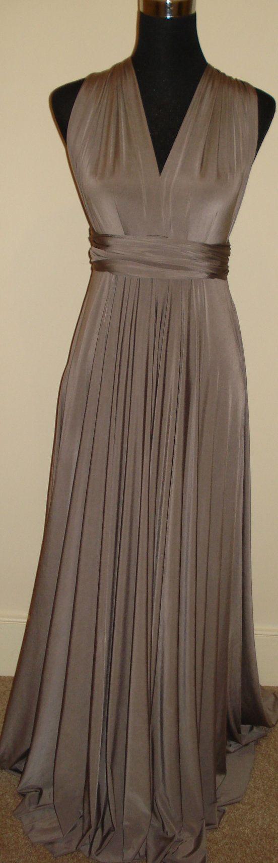 Mocha Bridesmaid Dress Prom Formal Evening Dress by stitchawayrose