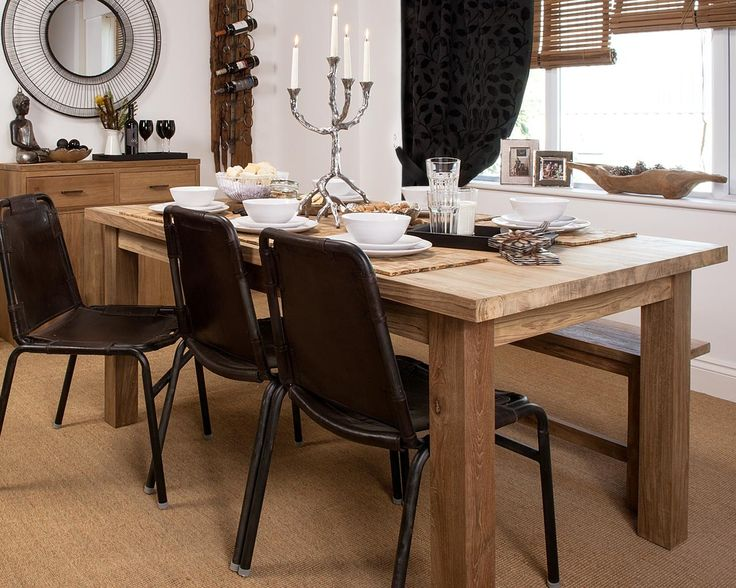 chunky dining table and chairs henry breadboard dining table a modern and chunky dining table crafted from beautiful reclaimed teak