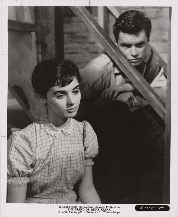 Millie Perkins Richard Beymer Diary Of Anne Frank 1959 Gosh I Loved This Movie Growing Up Richard Beymer Frank Movie Anne Frank
