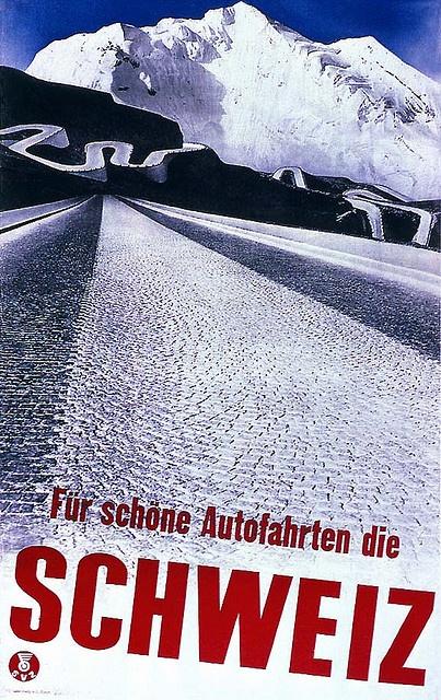 Swiss Tourist Office poster by Herbert Matter 1935.