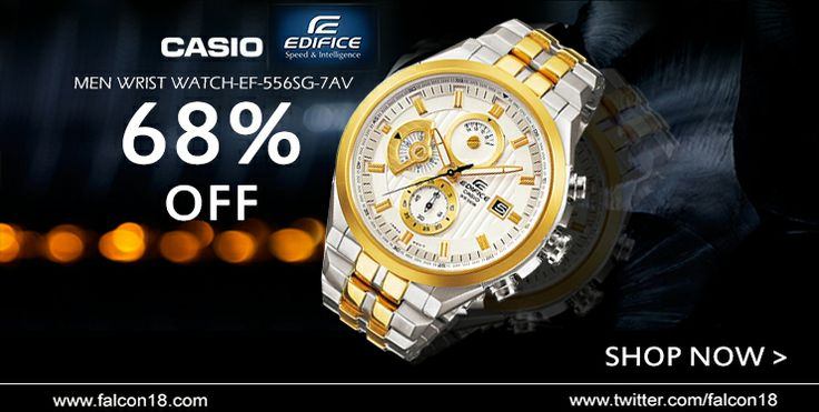 Flaunt your distinct style and good choice with this smart looking Casio wristwatch.  The silver and gold combination is going with the current trend!! Order now to avail the one time 68% discount...  Click to buy:- http://www.falcon18.com/Casio-Men-Wrist-Watch-EF-556SG-7AV.htm?1037394/WC80247279