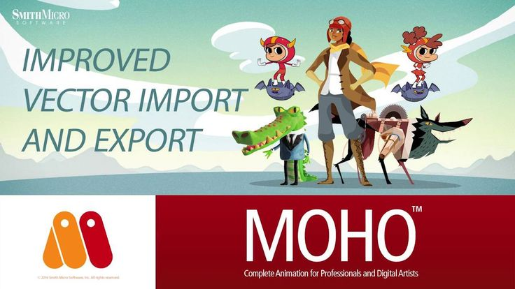 Moho 12 (Anime Studio) - SVG Vector Graphic Import and Export Tutorial