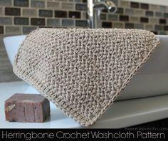 Herringbone Crochet Washcloth Pattern – The Purple Poncho