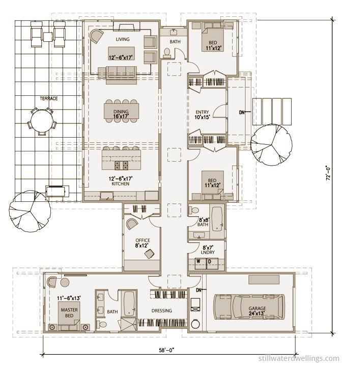 Detailed Floorplan sd152 « Stillwater Dwellings