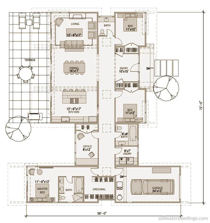 Detailed Floorplan sd152 « Stillwater Dwellings