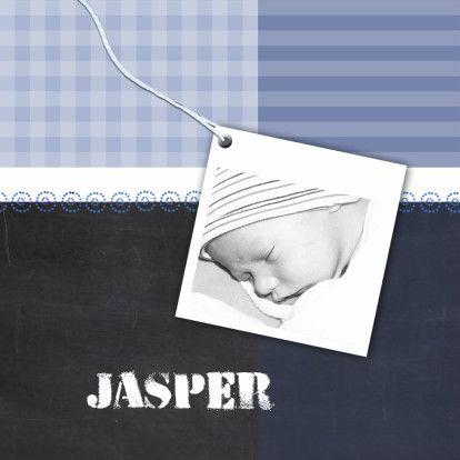 Stoere geboortekaart schoolbord - Geboortekaartjes - Kaartje2go
