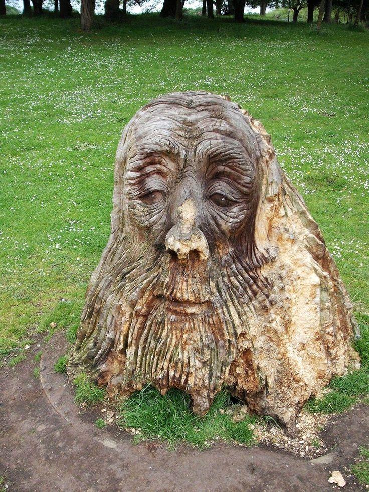 Druids Trees:  #Tree Spirit, Sefton Park, Liverpool, England, Scott Buehler.